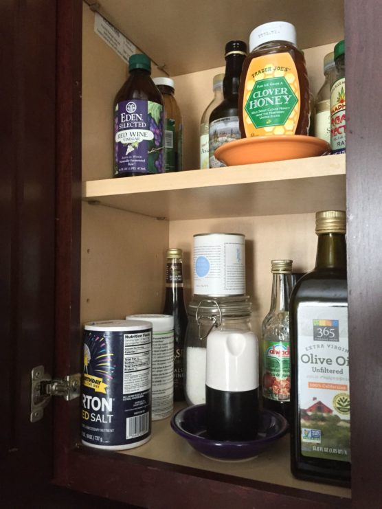 Using saucers for storage