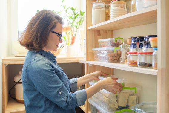 Arrange food items by hierarchy