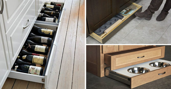 Install toe kick drawers