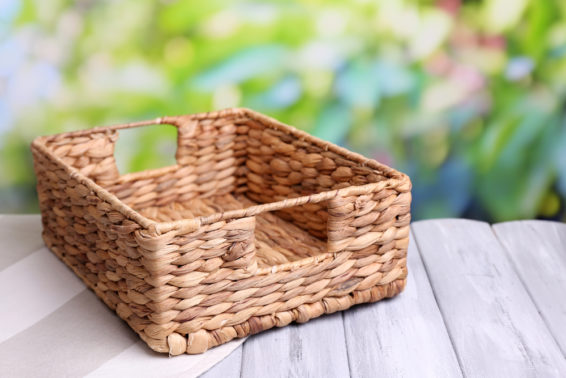 Use baskets for storage